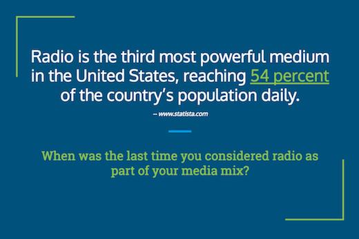 use radio to reach new buyers